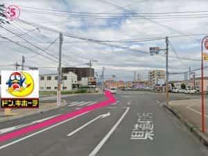 ドン・キホーテ霧島隼人店交差点を東側