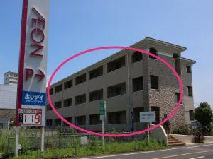 幸せのもり整体院は、イオン国分隼人店西側駐車場入口あるマンション内です。